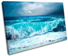 Storm Wave Blue Sunset Seascape - 13-0293(00B)-SG32-LO